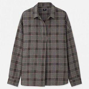 Uniqlo Flannel Checked Skipper Collar Shirt